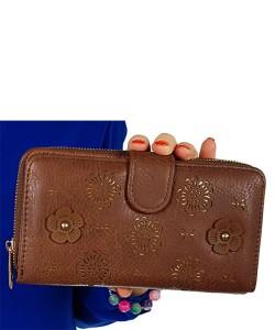 a3ab763fd52aa Brązowy portfel damski podwójny 99812