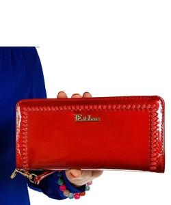 7e49991fcc5e6 Czerwony portfel damski lakierowany 6097