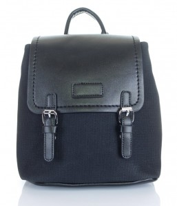 0ccb5601eec0f Zgrabny Efektowny czarny plecak LS028