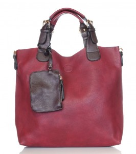 Pojemny bordowy shopper bag 2w1 1330