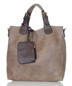 Pojemny shopper bag 2w1 1330 Taupe
