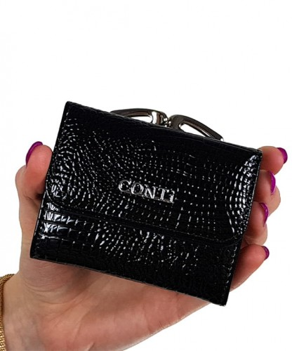 ed5361b6cc848 Lakierowany portfel damski Conti 5287A Centrum Modnych Torebek
