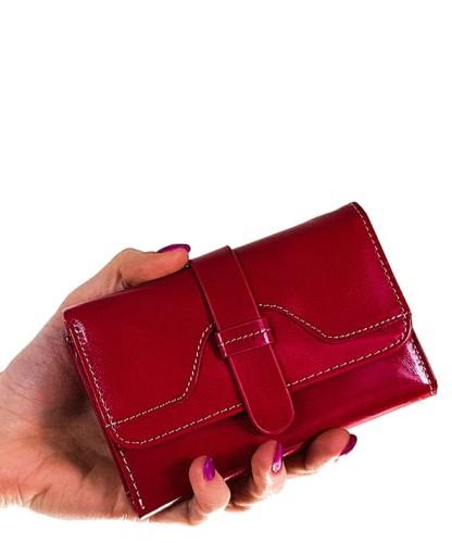 3c04a04225d633 Solidny skórzany portfel damski różowy yp147 Centrum Modnych Torebek