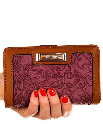 8117b2d8155bb Różowy portfel damski dudlin 432 Centrum Modnych Torebek