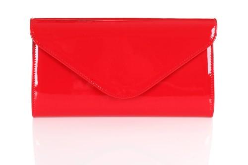 d7e9496d6eb25 Czerwona lakierowana kopertówka W25 Centrum Modnych Torebek