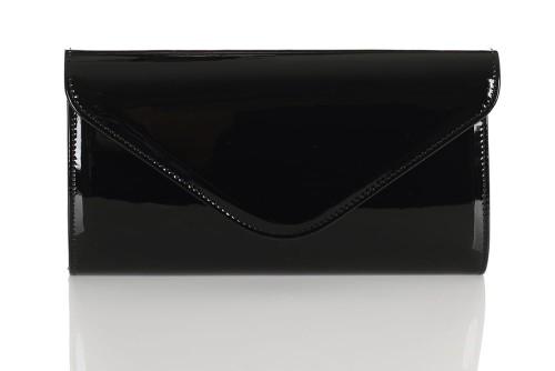 50ac2928fcf2c Czarna lakierowana kopertówka W25 Centrum Modnych Torebek