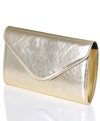 8c45771a82708 Mała złota metaliczna kopertówka W35 Centrum Modnych Torebek