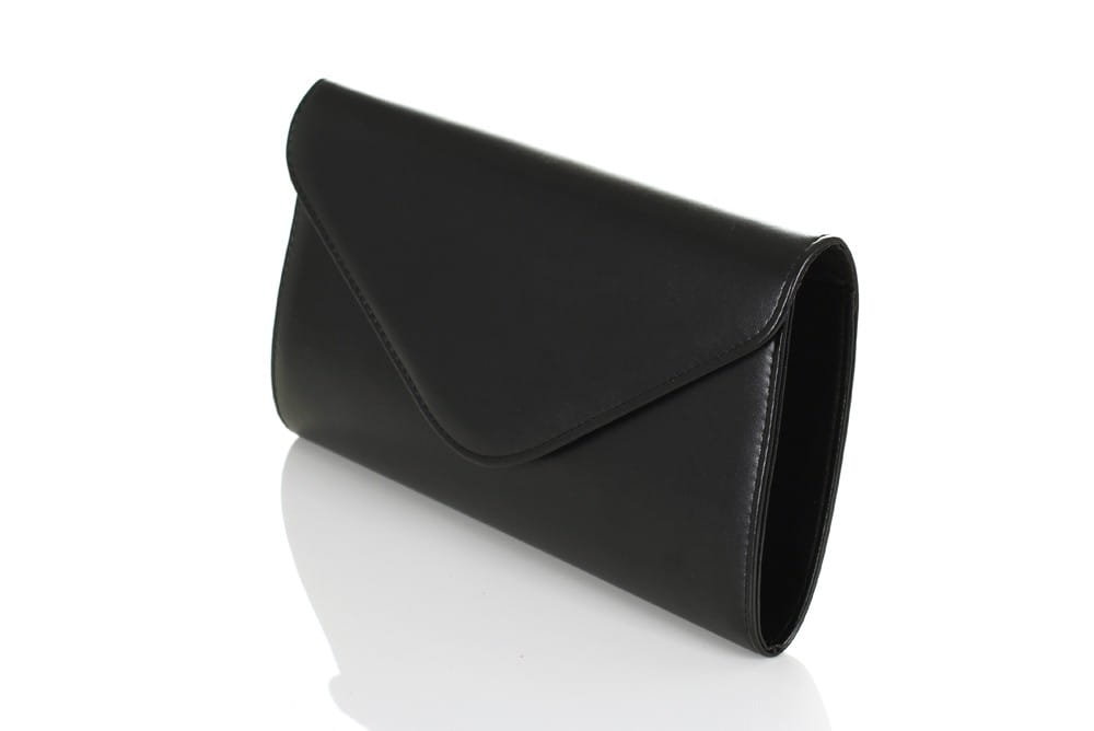 3b30faa02f6d1 Czarna mała matowa kopertówka W35 Centrum Modnych Torebek