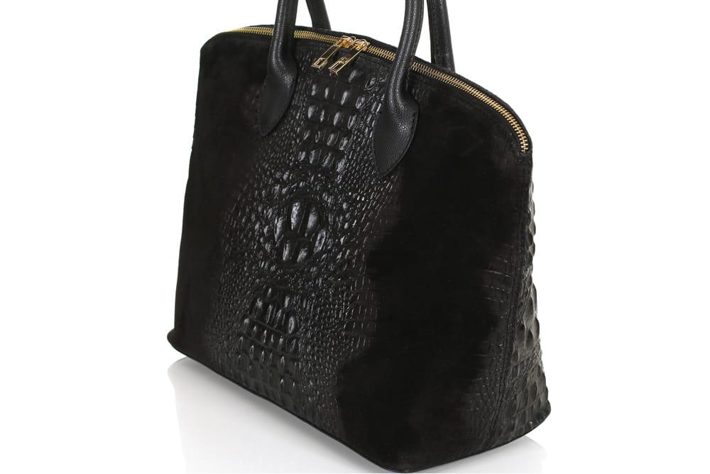 0e37ecc68b19a Vera Pelle włoska czarna skórzana torebka SS8 Centrum Modnych Torebek