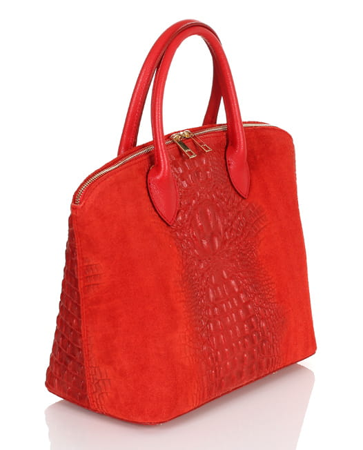 2a8aca2dd4351 Vera Pelle włoska czerwona skórzana torebka SS8 Centrum Modnych Torebek