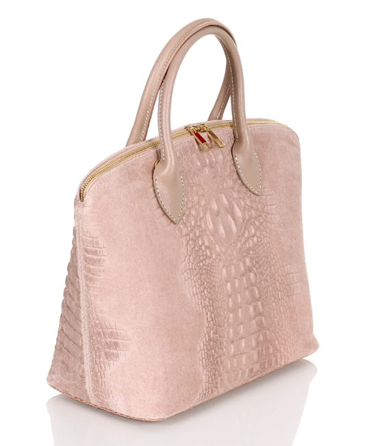13ba8b9bb1de8 Vera Pelle włoska skórzana torebka Brudny Róż SS8 Centrum Modnych ...